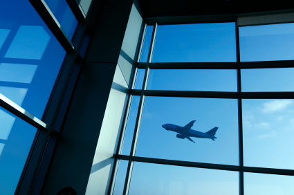 aircraft through terminal window